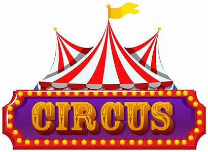 Circus Banner Clipart Vector Isolated Banners Graphics