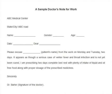 dr note template for work 28 doctors note templates pdf doc free premium templates