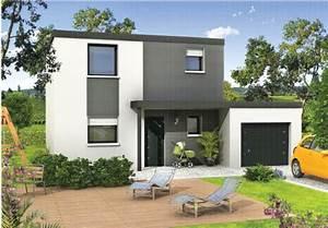 maison contemporaine toiture terrasse etage With terrasse de maison contemporaine
