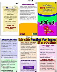 hiv aids brochure templates csoforuminfo With hiv aids brochure templates
