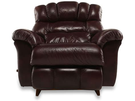 la z boy crandell bordeaux leather recliner mathis
