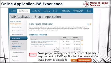 Project Management Experience Exles by Master Of Project Academy 2018 Pmp Application Steps