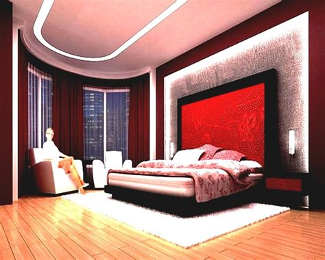 bedrooms  couples red paint colors  living room red