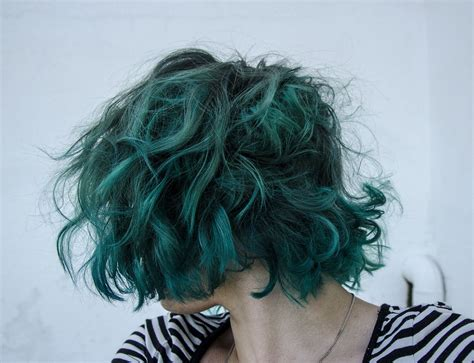 Dark Teal Hair On Pinterest Midnight Blue Hair Teal