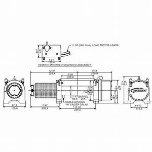 Ramsey Winch Wiring Schematic Winch Wiring Diagram Two Solenoid Simple Winch Diagram