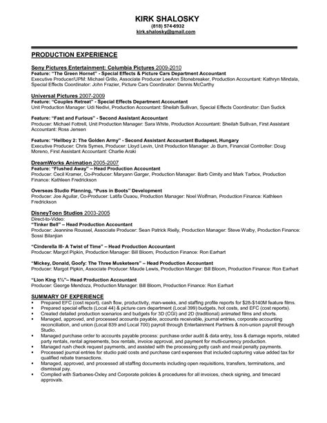 sle resume for accountant assistant