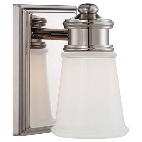 Minka Lavery 1light Polished Nickel Vanity Light4531613
