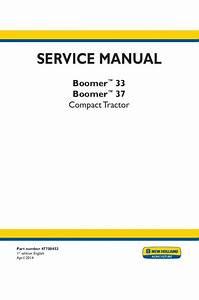 New Holland Boomer 33  Boomer 37 Service Manual