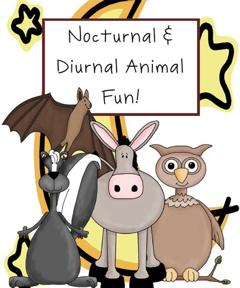 nocturnal animals animal diurnal fun activities preschool science sorting having worksheet vs creatures crafts pre early years includes kit ome