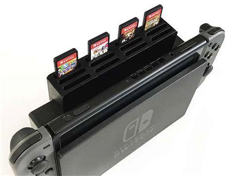 printed game cartridge holder  nintendo switch dock