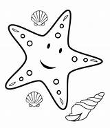 Coloring Pages Starfish Fish Star Printable Animals Craft Crafts Sea Related Posts sketch template