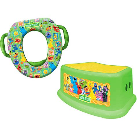 sesame street framed friends soft potty seat and step