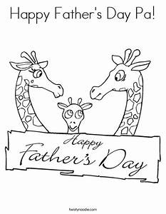 Happy Father's Day Pa Coloring Page - Twisty Noodle