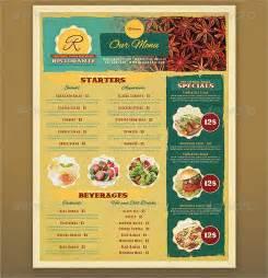 Restaurant Printable Menu Templates