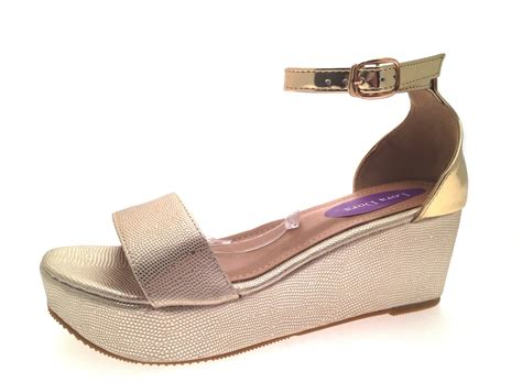 Wedge Shoes : Womens Strappy Low Wedge Sandals Snake Print Flatforms