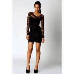 long sleeve black lace dress trendy dress