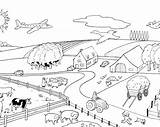 Coloring Farm Pages Children sketch template