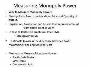Monopoly Lecture Notes  Economics
