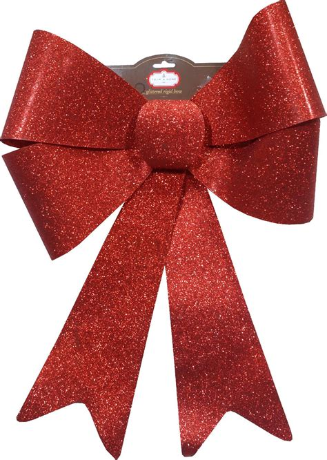 trimming traditions large glittery trim a home 174 large red plastic glitter bow christmas decoration shop your way online shopping