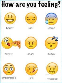 emoji feelings poster   sheet  domingos