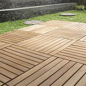 Dalle De Terrasse En Bois : dalle clipsable bois marron naturel miel x ~ Dailycaller-alerts.com Idées de Décoration