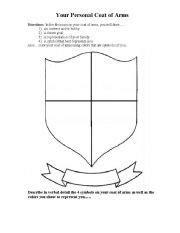 coat  arms worksheet  instructions worksheet