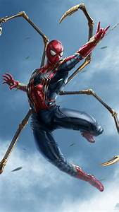 Avengers Endgame Spiderman Action iPhone Wallpaper
