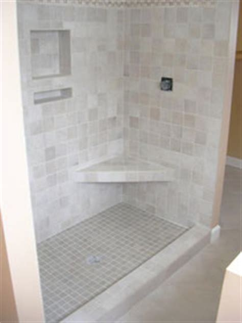shelves benches  showers tile lines