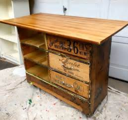 kitchen with two islands how to turn an dresser into a rustic kitchen island
