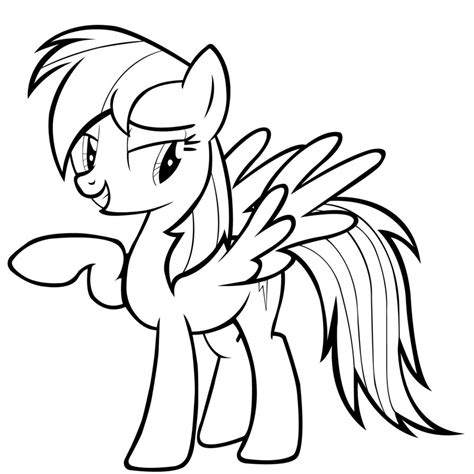 rainbow dash coloring pages cartoon coloring pages