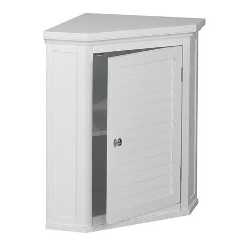 white bathroom corner wall cabinet 1 door corner wall cabinet in white elg 587