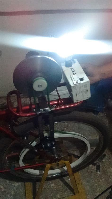 flywheel based bicycle generator  ieee maker project