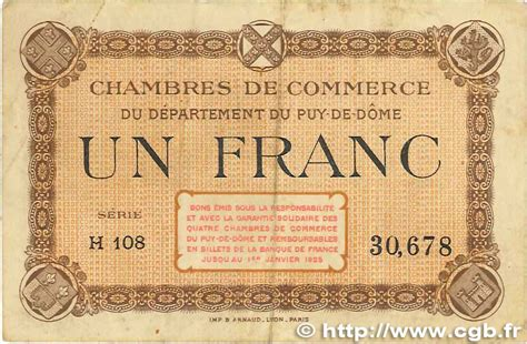 chambre de commerce de clermont ferrand 1 franc regionalismus und verschiedenen puy de dôme