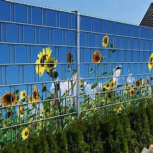 Doppelstabmattenzaun Sichtschutz Motiv : sonnenblumen doppelstabmatten sichtschutzstreifen ~ A.2002-acura-tl-radio.info Haus und Dekorationen
