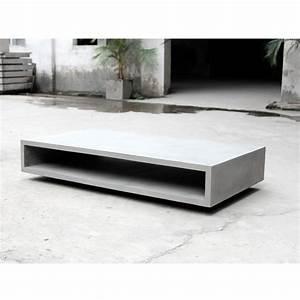 Table Basse En Beton : table basse rangement xl en b ton monobloc by drawer ~ Farleysfitness.com Idées de Décoration