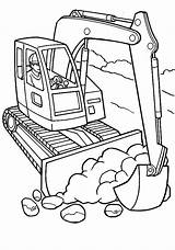 Coloring Construction Pages Excavator Vehicles Equipment Equiptment Excavators Printable Pdf Getcolorings sketch template