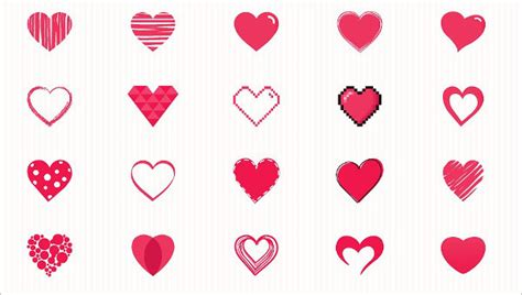 heart icons  psd vector ai eps format