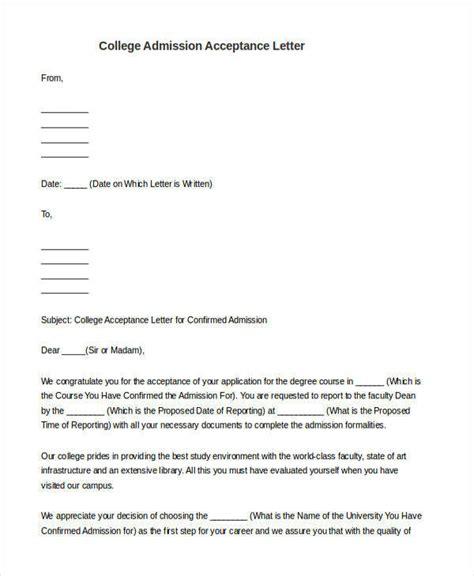 11937 college admission letter 56 acceptance letters sle templates