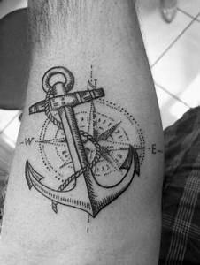 50 Small Compass Tattoos