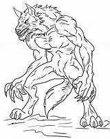 Werewolf Coloring Pages Printable Halloween Werewolves Drawing Getcoloringpages Howling Wolfman sketch template
