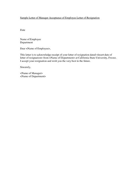 resignation letter  employer employee