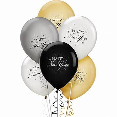 Balloons Gold Happy Silver Balloon Eve Decorations