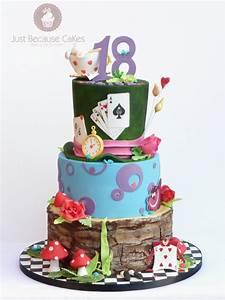 Alice In Wonderland Cake As Alice In Wonderland Cake