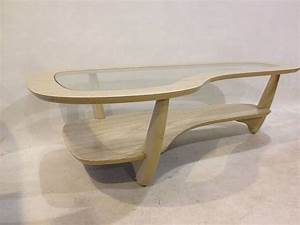 midcentury modern blond wood glass top coffee by With blonde wood coffee table