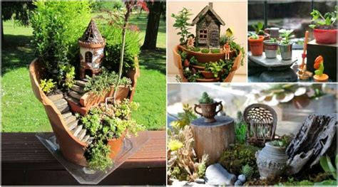 diy fairy miniature garden ideas  common household