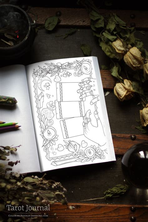 tarot journal preview release date coloring book