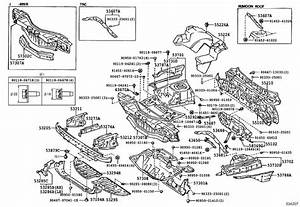Toyota Mr2 Member Sub-assembly  Front Cross  Interior  Body