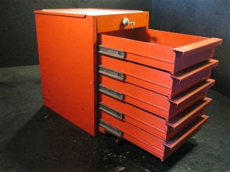 tool box end cabinet used snap on side cabinet locker tool box 5 drawers red