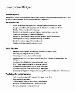 sample interior designer job description 9 examples in With interior decorator job description