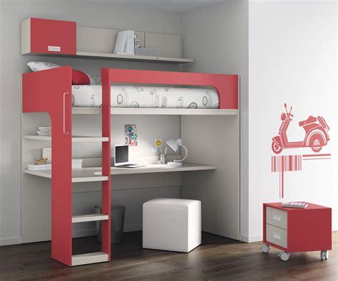 bureau de lit lit mezzanine avec bureau et armoire conforama armoire